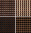 chocolate seamless background set vector image