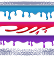 Colored seamless drips background vector image vector image
