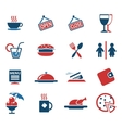 Cafe Silhouette Icons vector image