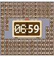 Wall flap clock vector image