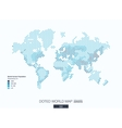 Useful infographic template choropleth world map vector image