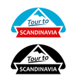 Tour to Scandinavia Set of Badges vector image