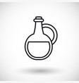 bottle thin line web icon vector image