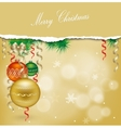 Christmas background with balls and Christmas vector image