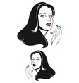 Glamour woman face vector image