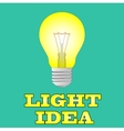 Glowing yellow light bulb as inspiration concept vector image
