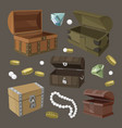 hidden treasures set vector image