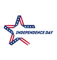 Independence Day star made of ribbon in national vector image