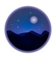 mystical night sky background with full moon and vector image
