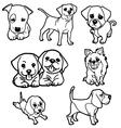 puppy coloring book set vector image