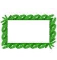 Restangular Christmas Floral Frame vector image