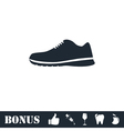 Sneakers icon flat vector image