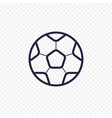 soccer ball simple line icon football game thin vector image