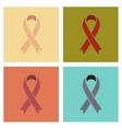 assembly flat icons gays HIV ribbon vector image
