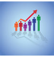 Rising Figure Graph vector image vector image