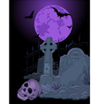 Halloween Tomb vector image