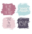Set of 4 decorative wedding and romantic elements vector image