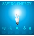 Saving energy 2 vector image