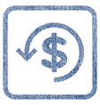 refund fabric textured icon vector image