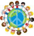 global children vector image