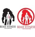 Beast Fitness Logo vector image