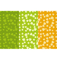 St Patricks Day Seamless Backgrounds Set vector image
