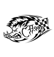 Offroad boar tattoo vector image