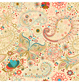 Vintage background with butterfly vector image