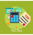 Tax payment flat business finance concept vector image
