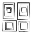collection grunge frames set elements vector image
