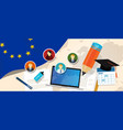europe corruption eu education school university vector image