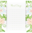 Floral card invitation template Flower design vector image