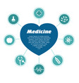 infographic medical subjects heart with text vector image