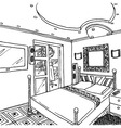 Luxurious bedroom vector image
