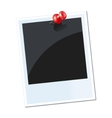 photo with red thumbtack vector image