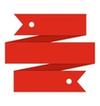 Red ribbon banner icon flat style vector image