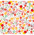 seamless pattern on the pizza theme products for vector image