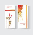 Set of two colorful business cards templates vector image