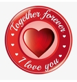 together forever i love you heart symbol icon vector image