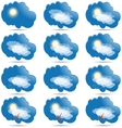 Weather icons set as labels vector image
