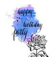 Happy Birthday card template vector image