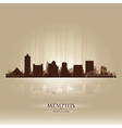 Memphis Tennessee skyline city silhouette vector image vector image