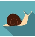 Snail icon flat style vector image