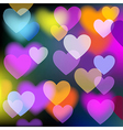 Colorful Background With Hearts vector image vector image