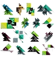 Set of paper design style geometrical banners with vector image