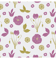 purple cute nature print vector image vector image