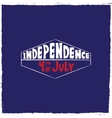 label Independence day vector image