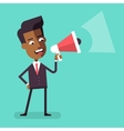 African american businessman with megaphone vector image