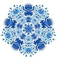 Decorative Gzhel Round Ornament vector image