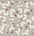 endless pattern with flowers and ladybugs vector image